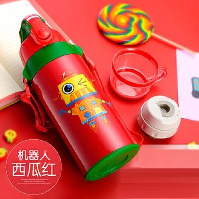 不锈钢保温杯带吸管两用防摔宝宝水壶幼儿园小学生便携水杯