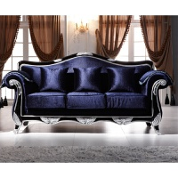 欧式布艺沙发组合田园小户型可拆洗简约实木客厅新古典双人沙发