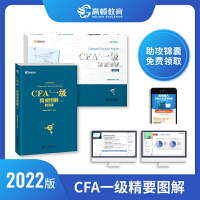 2021cfa一级教材精要图解 cfa一级中文精讲 一级精要图解(文)+精要图解(图) 共2本 2021版特许金融分析师