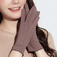 手套女士冬季加绒加厚保暖防风休闲简约触屏户外骑行开车防滑加厚