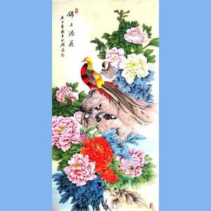 中国工艺美术学会会员,山东美术家协会会员,中日书画交流协会会员胡记领(锦上添花)