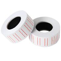 得力3210通用单排标价纸21.5商品打码纸打价纸价格标签标价签10卷 市