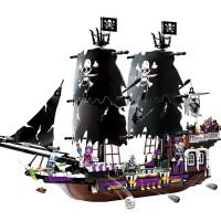 兼容启蒙益智力拼装积木海盗船系列男孩玩具6-8-10岁儿童礼物
