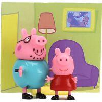 小猪佩奇琪亲子过家家儿童玩具套装一家四口女孩3-6周岁7