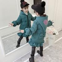 儿童棉衣2018新款冬季韩版女孩中长款棉服外套潮