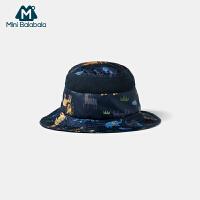 迷你巴拉巴拉儿童渔夫帽2020夏季薄款透气防风时尚潮流遮阳帽子