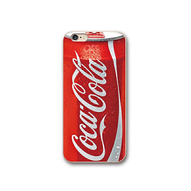 红色可乐手机壳7p个性创意iphone6s手机套5s硅胶8plus苹果X软壳潮