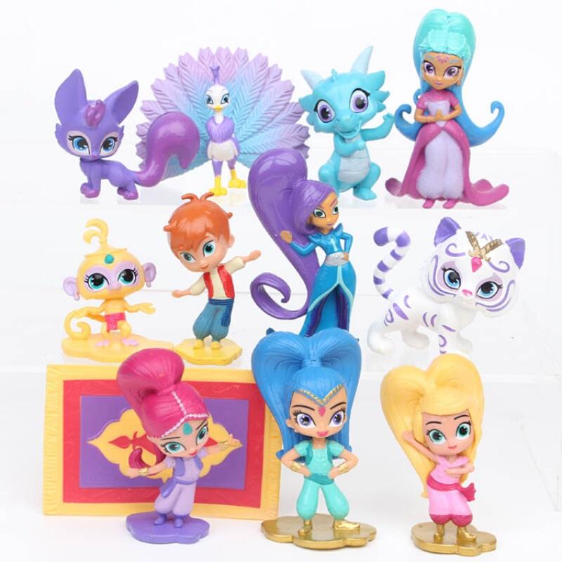 12款愿望精灵小姐妹人偶玩具摆件亮亮与晶晶小女孩公仔 均码
