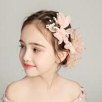 儿童礼服配饰女孩头饰甜美可爱公主优雅发钗花套装