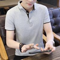 2019男士短袖T恤纯色夏季薄款休闲上衣纯棉半袖衣服体恤衫POLO衫