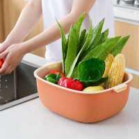 新款 双层家用厨房洗菜盆沥水篮子洗菜篮茶几客厅盘洗水果