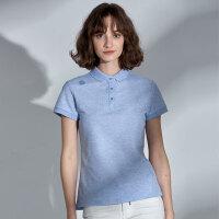 【同款】NORTHLAND/诺诗兰新款女士休闲时尚百搭 翻领短袖T恤GL082244