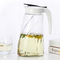 茶花 茶花玻璃水壶茶杯凉茶壶家用塑料大容量茶壶凉水杯壶塑料壶冷水壶 1.45L容量