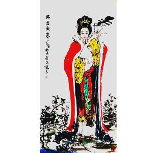 当代书画风云人物,实力派画家常笑(王昭君出塞)DQ58