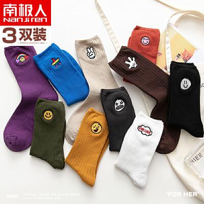 堆堆袜子女冬季中筒薄款韩国日系秋冬长筒棉袜网红街头可爱ins潮