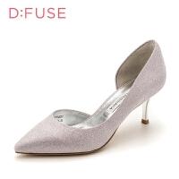 【领券减100】迪芙斯(D:FUSE)专柜同款尖头侧空细跟高跟鞋单鞋女DF83114021