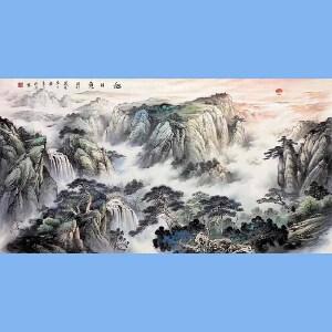 中美协会员,*潜力的职业画家梁海波(旭日东升)49