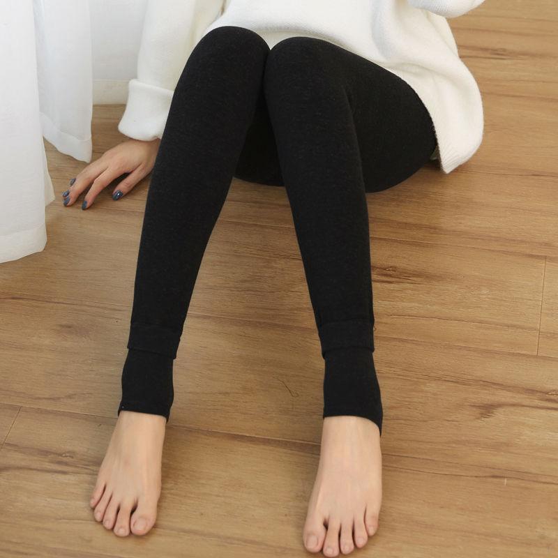 秋冬七彩棉加肥加厚打底裤女士外穿加大码加绒保暖一体裤子200斤