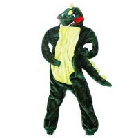 冬恐龙龙猫动物连体睡衣法兰绒卡通男女情侣学生可爱加厚拉链