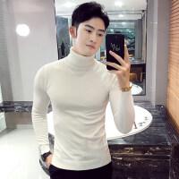高领毛衣男士秋冬季保暖长袖打底衫线衣韩版青年帅气针织衫修身潮