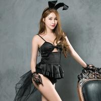 情趣派对性感兔女郎紧身连体衣角色扮演制服夜店诱惑 黑色 均码