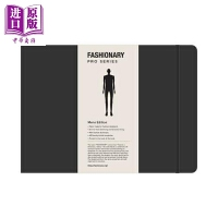 【中商原版】时尚男装A4素描本 英文原版 Fashionary Portfolio Mens Sketchbook A