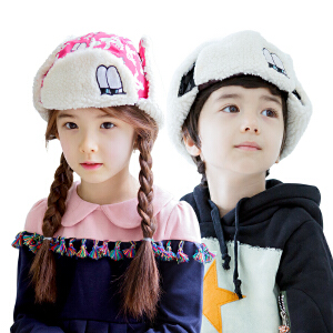 KK树儿童雷锋帽冬天男女童帽子加绒保暖帽小孩帽子2-4-8岁潮