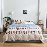 自然醒商场同款卡通小清新全棉四件套棉床单被套宿舍单人床三件套床上用品夏季