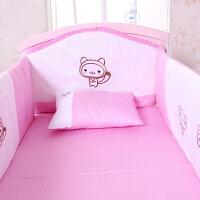 小硕士婴儿床品 宝宝床四件套纯棉床上用品套件 bb床上用品