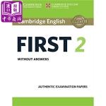 【中商原版】剑桥FCE考试2 真题集:学生书(无答案)英文原版 Cambridge English First 2 S