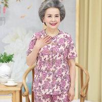 奶奶装夏季开衫套装60中老年人女装70岁妈妈夏装短袖80老人衣服女