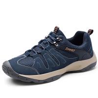 登山鞋男徒步鞋运动户外休闲鞋秋季透气网面潮鞋爸爸鞋子
