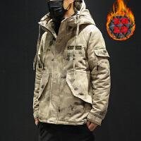男士棉服新款冬季潮牌迷彩棉衣韩版潮流学生加厚冬天棉袄外套