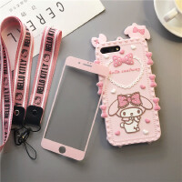 iPhone8plus女款硅胶手机壳苹果7P可爱软壳8X小仙女6S防摔保护套 i6/6s4.7寸爱心美乐蒂壳膜