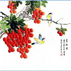 北京美协会员,北京市著名工笔画画家凌雪(吉利图)