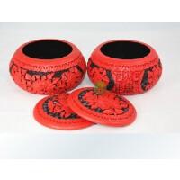 围棋套装 环保雕漆精品装饰牡丹花围棋罐 五子棋罐