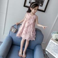 女童夏季超洋气吊带连衣裙儿童2019夏装新款小女孩公主裙童装裙子