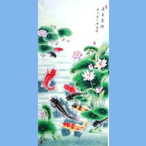 中国工艺美术学会会员,山东美协会员,中日书画交流学会会员胡记领(连年有余)11