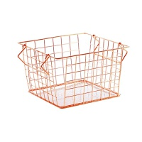 北欧铁艺收纳篮桌面玩具篮子厨房零食收纳筐衣柜衣物收纳框