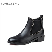 Fondberyl/菲伯����冬季羊皮�T�切��西短靴女FB74116039