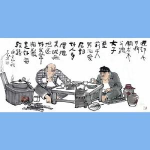 """国内""""文与画""""俱佳的艺术家刘子玉(近邻不可断)30"""