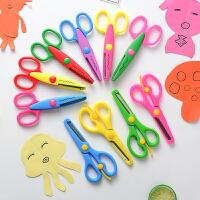 20190309123111717幼儿园 不钝 不伤手 塑料安全剪 花边剪刀 儿童剪刀安全手工