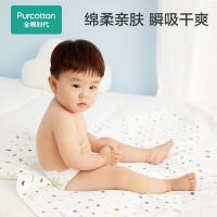 全棉时代婴儿隔尿垫防水可洗纯棉新生宝宝大号超大防漏尿床垫