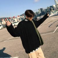2018秋冬季男士针织衫宽松毛衣情侣男生线衫青年 毛线上衣