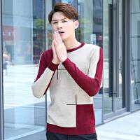 秋冬男士套头毛衣男韩版圆领针织衫打底衫青少年学生宽松长袖线衫