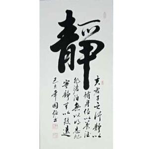 中国书协会员,河南省书协会员,一级书法师王国强(静)20
