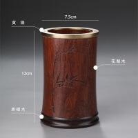 藤编茶道六君子套装6件套茶筒功夫茶具配件茶艺组合竹茶夹茶勺零