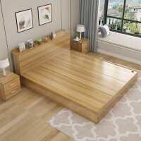 现代简约板式床1.2米1.5米1.8米双人床榻榻米床高箱储物床收纳床