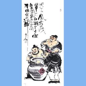 """国内""""文与画""""俱佳的艺术家刘子玉(天下风云出我辈)33"""
