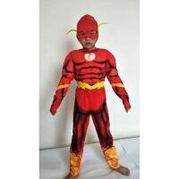 正义联盟小英雄闪电侠cosplay动漫服装化装舞会扮演人儿童套装
